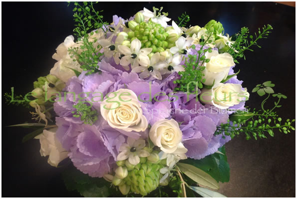 Flowers Munich, Lilac Hydrangea, Bouquet white flowers